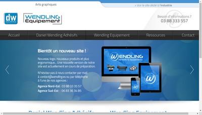 Site internet de Dw Adhesifs - Wendling Equipement - Graphiform