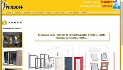 Site internet de Windoff