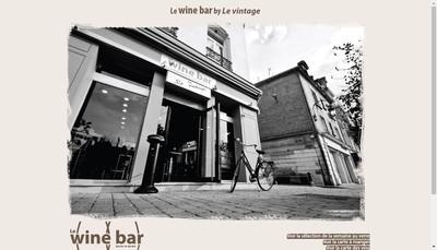 Site internet de Le Wine Bar By le Vintage