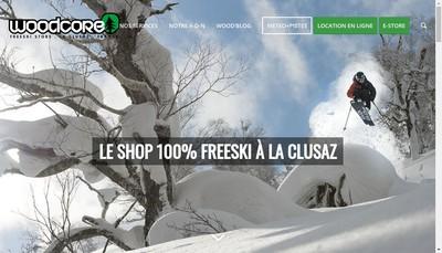 Site internet de Woodcore