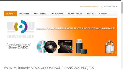 Site internet de Wow Multimedia