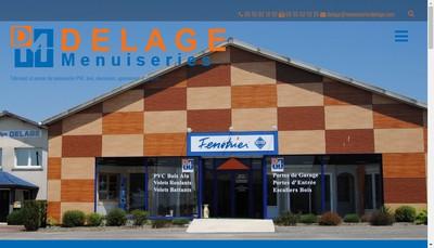 Site internet de Delage Menuiseries