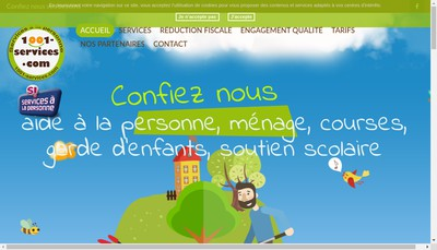 Site internet de 1001 Services