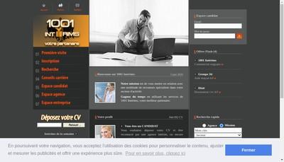 Site internet de 1001 Interims