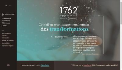 Site internet de 1762 Consultants