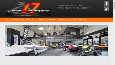 Site internet de EURL Seventeen Jet & Parts
