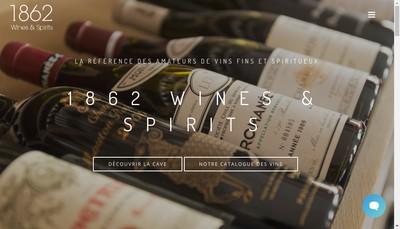 Site internet de 1862 Wines And Spirits