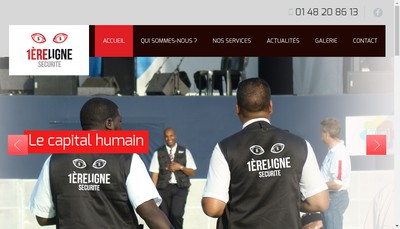 Site internet de 1Ere Ligne Securite Privee