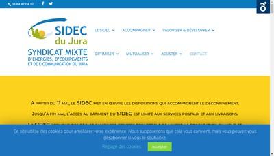 Site internet de Sidec