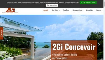 Site internet de SARL 2Gi Consultant