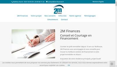 Site internet de SARL 2M Finances