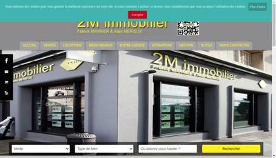 Site internet de 2M Immobilier