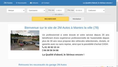 Site internet de 2 M Autos EURL