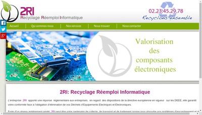 Site internet de Recyclage Reemploi Informatique 2Ri
