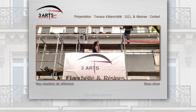 Site internet de 3 Arts