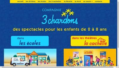 Site internet de Les 3 Chardons