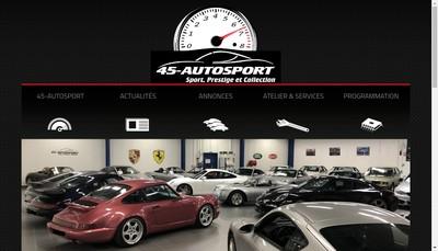 Site internet de Garage 45 Autosport