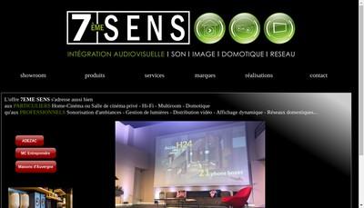 Site internet de 7Eme Sens