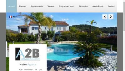 Site internet de A2B Immobilier