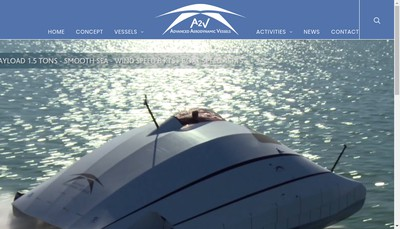 Site internet de Advanced Aerodynamic Vessels