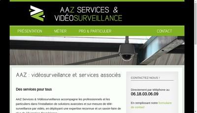 Site internet de Aaz Services & Videosurveillance