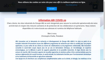 Site internet de Ab7 Innovation