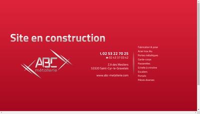 Site internet de Abc Metallerie