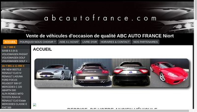 Site internet de Abc Auto France