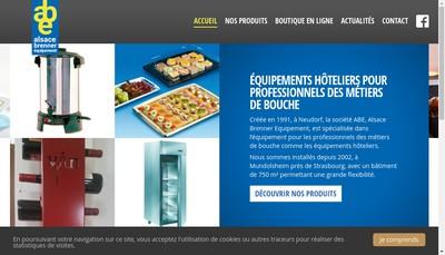 Site internet de Alsace Brenner Equipement