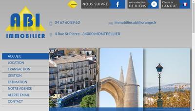 Site internet de Abi Immobilier