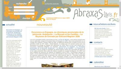 Site internet de Abraxas Libris