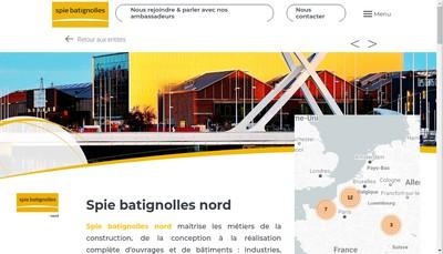 Site internet de Abscis - Bertin Construction