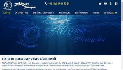 Site internet de Abyss Plongee
