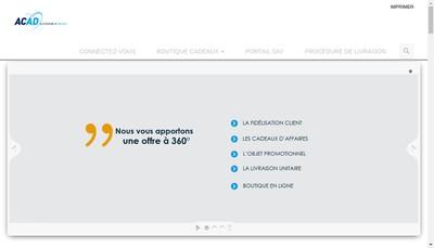 Site internet de Acad