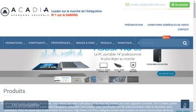 Site internet de Acadia Informatique