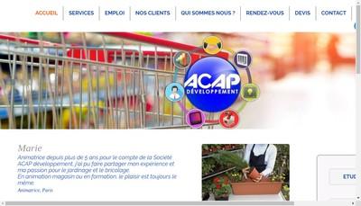 Site internet de Acap Developpement