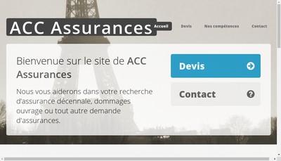 Site internet de Acc Assurances
