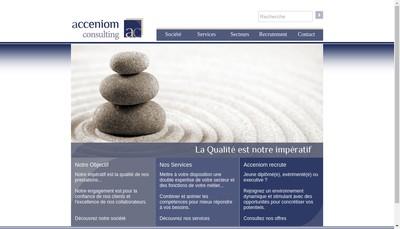 Site internet de Acceniom Consulting