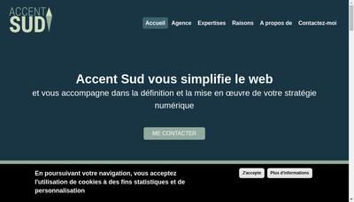Site internet de Accent Sud