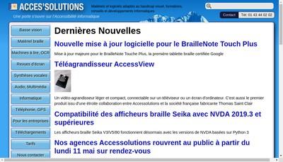 Site internet de Acces Solutions