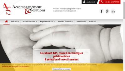 Site internet de Accompagnement & Solutions