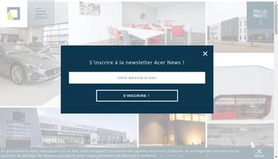 Site internet de Acer Ingenierie