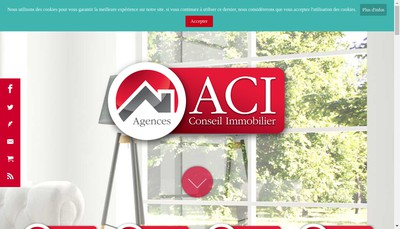 Site internet de Aci Immobilier