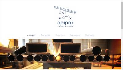 Site internet de Les Aciers Parisiens