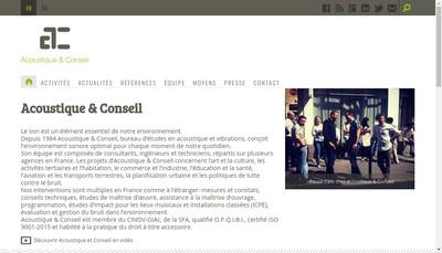 Site internet de Acoustique & Conseil
