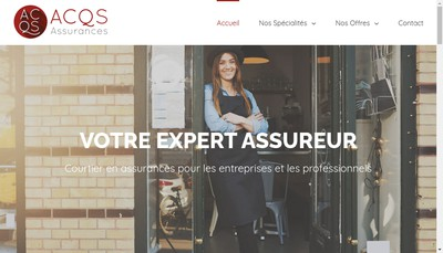 Site internet de Acqs Assurances