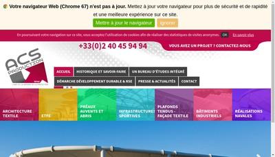 Site internet de Acs Production