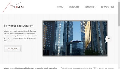 Site internet de Actarem