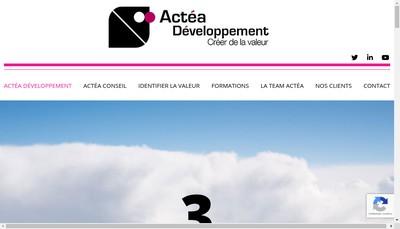 Site internet de Actea Developpement