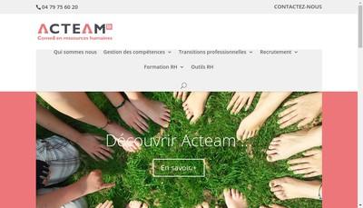 Site internet de Acteam